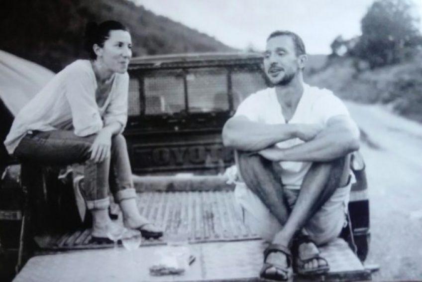 Christophe et Carole Avignon propriétaires du Chant des Collines - élevage biologique à Lagorce Sud Ardèche