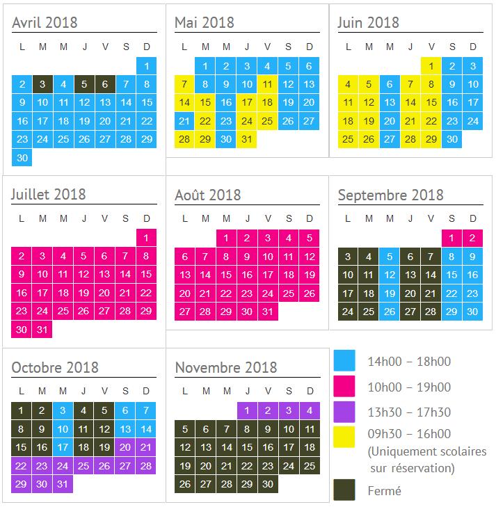 Vérifier les horaires ouverture du parc animalier à lussas pour votre visite en famille