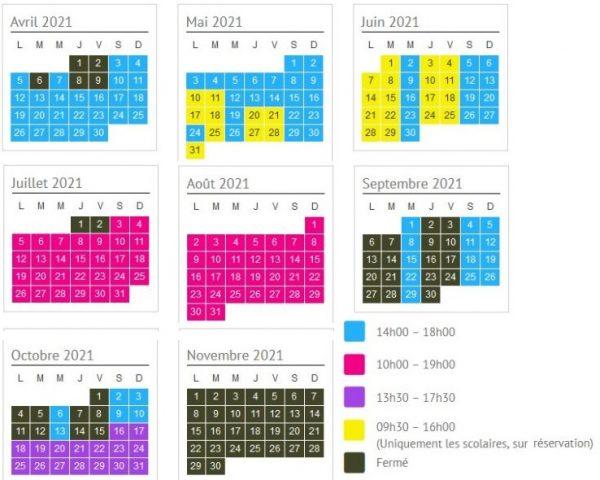 horaires ouverture du parc animalier de Lussas 2021
