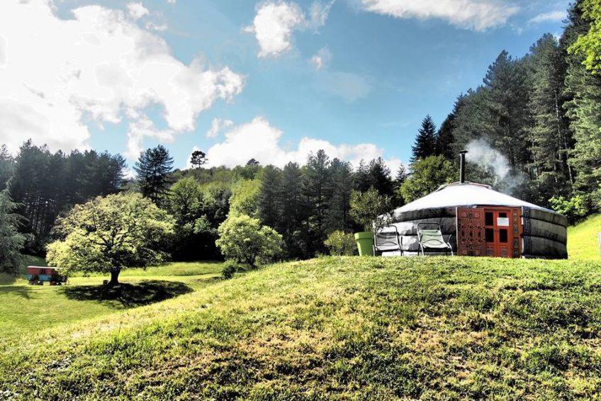 yourte Le Mas du Pestrin - location vacances Ardèche