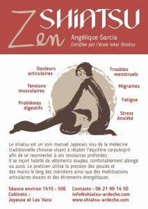 Shiatsu Ardèche Angélique Garcia à Joyeuse
