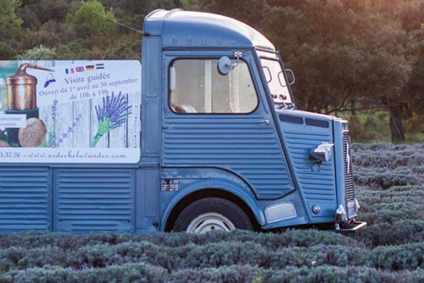 camion - Musée de la Lavande - Domaine Lavandais - St Remèze Sud Ardèche