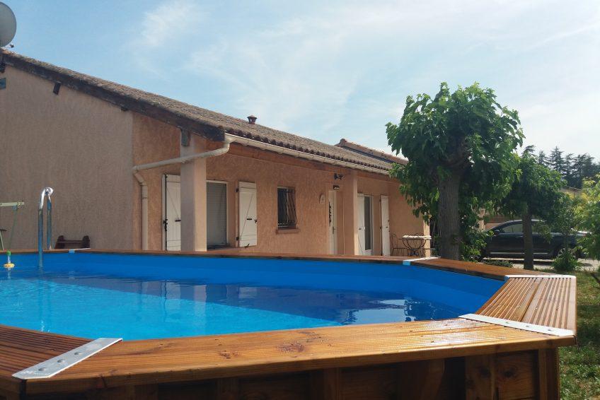 villa piscine Vallon Pont d