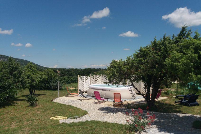 Location de vacances 5 chambres villa la rose des garrigues piscine 14 personnes St Remèze Sud Ardèche