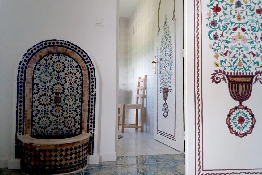 Location vacances groupe Villa La Rose des Garrigues 14 personnes st-Remèze Sud Ardèche vasque fontaine