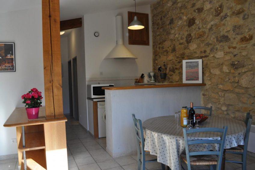 location vacances Ardèche château de Bessas gite le laurier