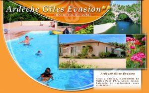 Vallon Pont d'Arc gîtes piscine - Ardèche Gites Evasion Résidence de gîtes à Salavas proche des Gorges de l'Ardèche