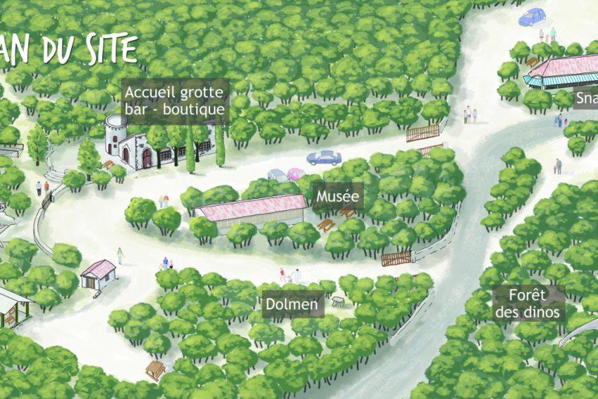 Grotte Ardèche Aven Marzal plan du site
