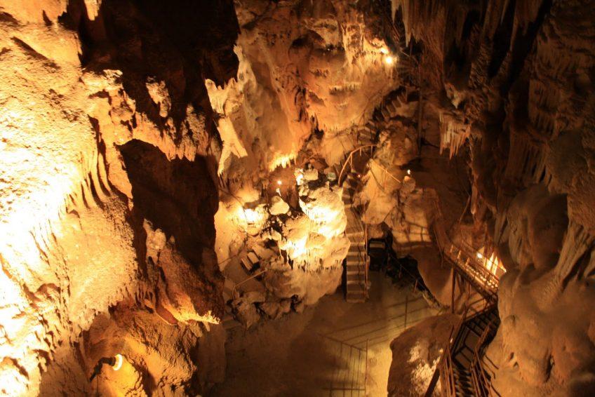 grotte Ardèche - Aven Marzal la salle des diamants
