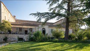 sejour charme Ardèche hotel du couvent Vagnas - parc arbore