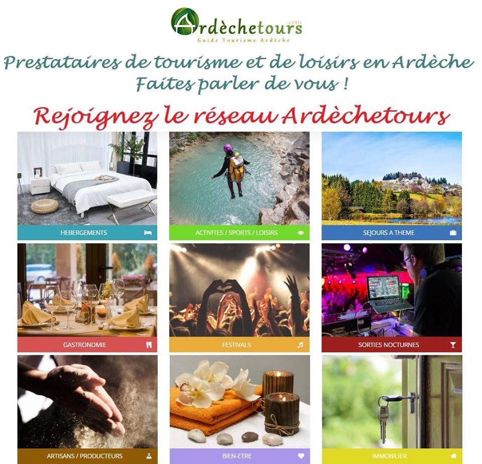 Annuaire Ardèche tourisme - guide de la location vacances en Ardèche - réseau Ardèchetours